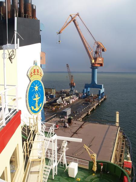 Oden in port in Landskrona, Sweden.